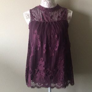 Altar'd State Purple Lace Tank Top